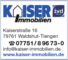 Anzeige Kaiser Immobilien GmbH & Co. KG