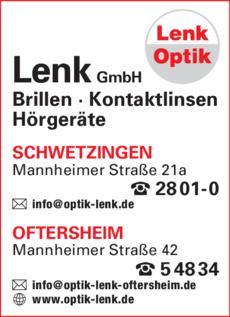 Anzeige Lenk Optik