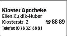 Anzeige Kloster Apotheke