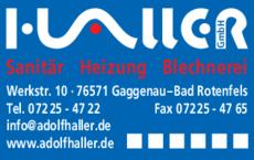 Anzeige Haller GmbH