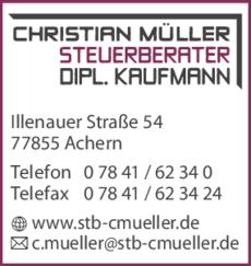 Anzeige Müller Christian Steuerberater