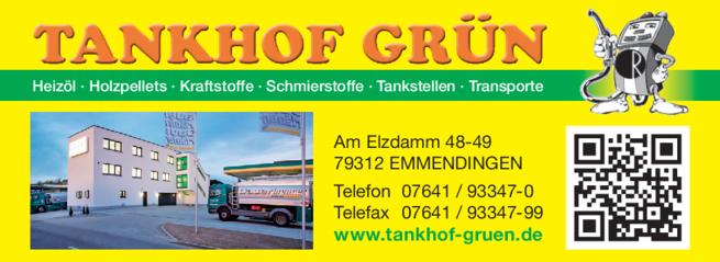Anzeige Tankhof Grün