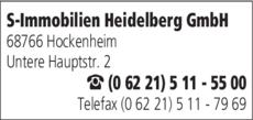 Anzeige S-Immobilien Heidelberg GmbH