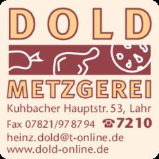 Anzeige Metzgerei Dold