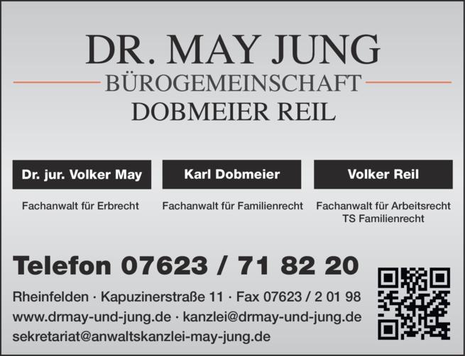 Anzeige May Dr. jur., Dobmeier, Reil , Rechtsanwälte