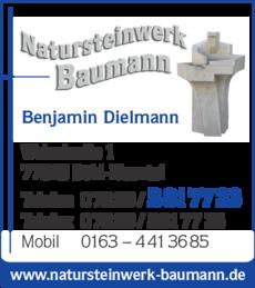 Anzeige Baumann Natursteinwerk