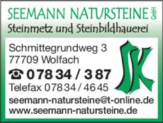 Anzeige Seemann Natursteine GmbH