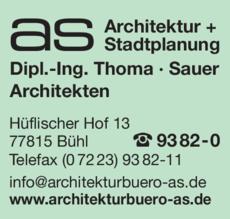 Anzeige AS ARCHITEKTUR + STADTPLANUNG GbR