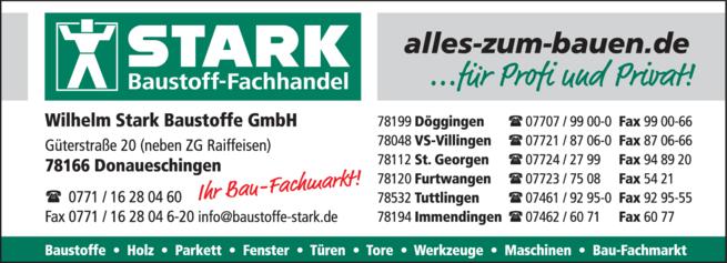 Anzeige Stark Wilhelm Baustoffe GmbH