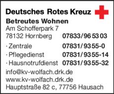 Anzeige DRK - Betreutes Wohnen