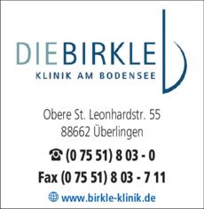 Anzeige Birkle-Klinik