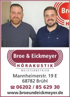 Anzeige Broe & Eickmeyer Hörakustik GbR