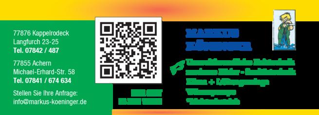 Anzeige Köninger Markus