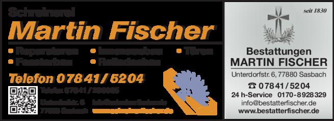 Anzeige Fischer Martin