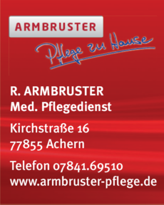 Anzeige ARMBRUSTER R.