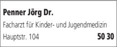 Anzeige Penner Jörg Dr. med.