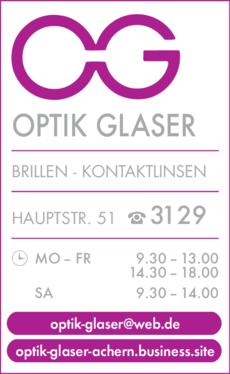 Anzeige Glaser Optik