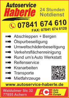 Anzeige Autoservice Haberle