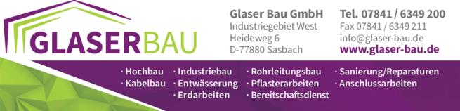 Anzeige Glaser Bau GmbH