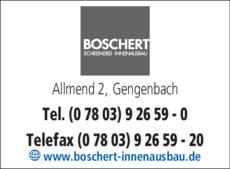 Anzeige Boschert Schreinerei