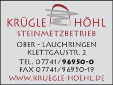 Anzeige Krügle u. Höhl