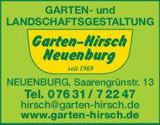 Anzeige Hirsch Gartengestaltung