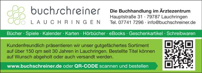 Anzeige Buch Schreiner GmbH