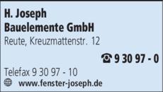 Anzeige Joseph Bauelemente GmbH