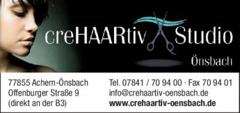 Anzeige Friseur creHAARtiv Studio