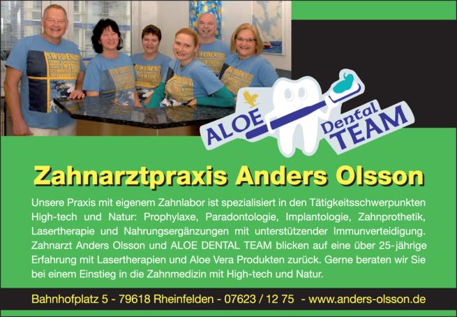 Anzeige OLSSON Anders , ALOE-DENTAL-TEAM