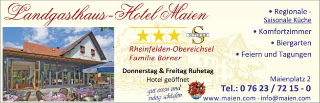 Anzeige Maien Landgasthaus-Hotel