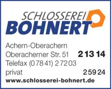 Anzeige Bohnert Richard