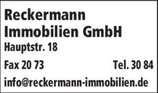 Anzeige Reckermann Immobilien
