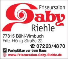 Anzeige Riehle Gabriele