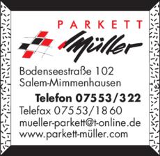 Anzeige Müller Axel Parkett