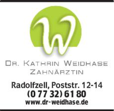 Anzeige Weidhase Kathrin Dr.med.dent.