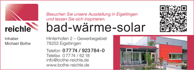 Anzeige Reichle bad-wärme-solar