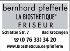 Anzeige Pfefferle Bernhard , Friseur