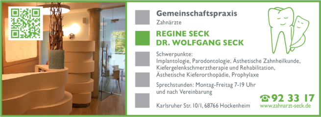 Anzeige Seck Wolfgang Dr.