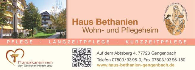Anzeige Haus Bethanien