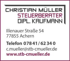 Anzeige Müller Christian , Steuerberater