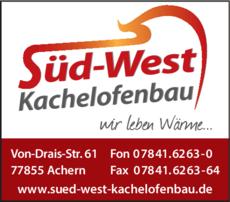 Anzeige Süd-West Kachelofenbau GmbH