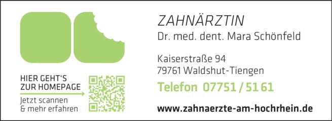 Anzeige Schönfeld Mara Dr.med.dent.