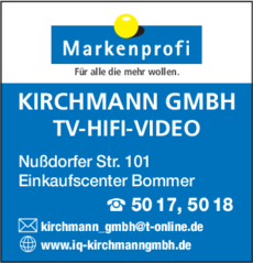 Anzeige KIRCHMANN GMBH