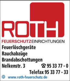 Anzeige Roth Feuerschutzeinrichtungen