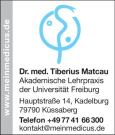 Anzeige Matcau Tiberius Dr. med.