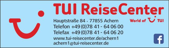 Anzeige TUI ReiseCenter