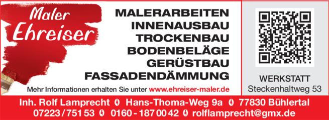 Anzeige Ehreiser