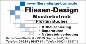 Anzeige Bucher Fliesen-Design