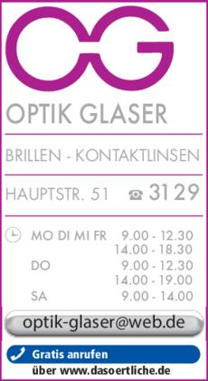 Anzeige Optik Glaser